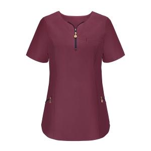 Bluza medyczna, dekolt na zamek- Emma