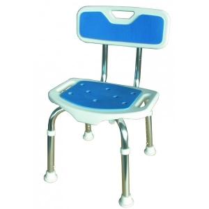Taboret/ krzesło prysznicowe z oparciem Blue